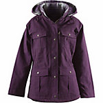 C.E. Schmidt Ladies' Sanded/Washed Duck Quilted Flannel-Lined Ranch Coat, Dark Lilac