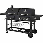 Dyna Glo™ Dual Fuel Gas and Charcoal Grill with Side Burner