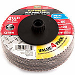 Mibro Flap Disc Set, 4-1/2 in. x 7/8 in., Pack of 4