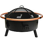 Bond 34 in. Firepit with Wildlife Cutouts