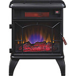 ClassicFlame Electric Stove with Infrared Heating Technology All LED with Remote and Digital Controls, Black Finish