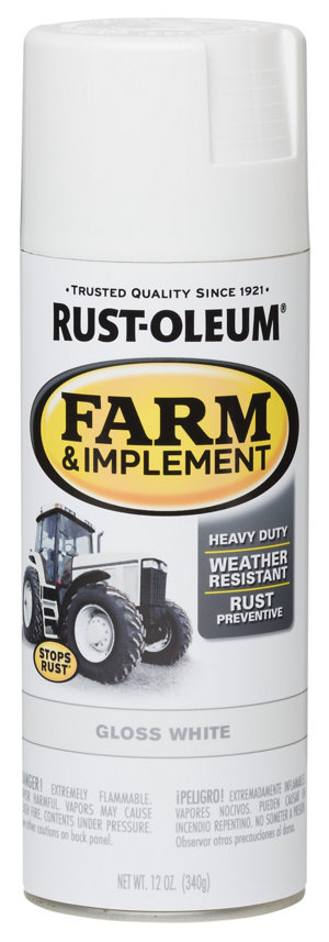 rust oleum specialty farm implement gloss white 12 oz. Black Bedroom Furniture Sets. Home Design Ideas