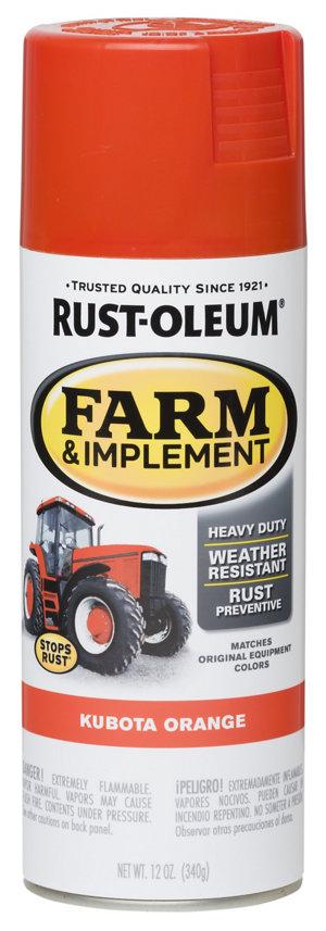 rust oleum specialty farm implement gloss kubota orange. Black Bedroom Furniture Sets. Home Design Ideas