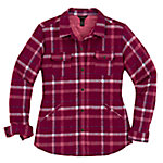 Bit & Bridle™ Ladies' Quilted Shirt Jacket, Beet Red Plaid