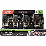 SmartStraps® Standard Ratchet Tie Downs, 10 ft., Green, Pack of 8