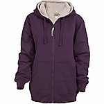 C.E. Schmidt Ladies' Sherpa-Lined Zip-Front Hooded Fleece Sweatshirt, Dark Lilac