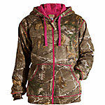 C.E. Schmidt Ladies' Sherpa-Lined Zip-Front Hooded Fleece Sweatshirt, Realtree Xtra Camouflage