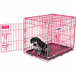 Petmate Puppy 2-Door Training Retreat Kennel, 24 in., 25 to 30 lb., Pink