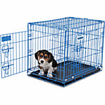 Petmate Puppy 2-Door Training Retreat Kennel, 24 in., 25 to 30 lb., Blue