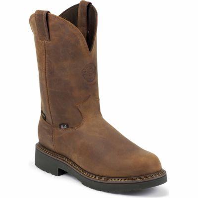 Justin Men S 11 In Waterproof Plain Toe J Max Boot