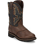 Justin Men's 11 in. Plain Toe Stampede Boot, Copper Kettle Rowdy Brown