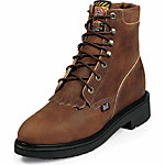 Justin Women's 6 in. Steel Toe Work Boot, Aged Bark Brown