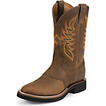 Justin Men's 11 in. AQHA Lifestyle Collection Boot, Dark Brown, CA Prop 65 Compliant