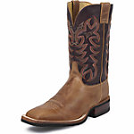 Justin Men's 11 in. AQHA Lifestyle Collection Boot, Copper Calgary Brown, CA Prop 65 Compliant