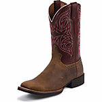 Justin Men's 11 in. Stampede Boot, Rugged Tan, CA Prop 65 Compliant