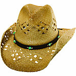 Tropical Trends Ladies' Western Hat with Faux Leather Band