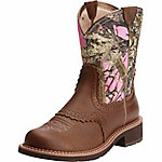 Ariat Ladies' Fatbaby Heritage Western 8 in. Performance Boot, Pink Camo