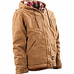 Berne Washed Duck Quilt-Lined Insulated Hooded Jacket