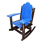 Red Shed Paddle Arm Log Rocker, Blue