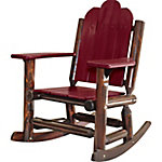 Red Shed Paddle Arm Log Rocker, Red