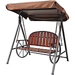 Red Shed Buckboard Wagon Wheel Canopy Swing