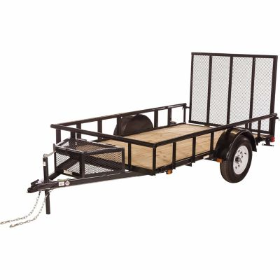 Carry on trailer 5 1 2 ft x 10 ft open wood floor for Wood floor utility trailer