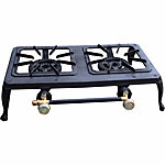 Sportsman Double Burner Cast Iron Stove, 19-1/2 in. x 13 in. x 5 in.
