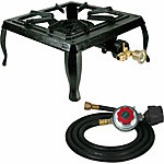 Sportsman Single Burner Cast Iron Stove with Regulator Hose, 13 in. x 9-1/2 in. x 5 in.