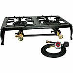 Sportsman Double Burner Cast Iron Stove with Regulator Hose, 19-1/2 in. x 13 in. x 5 in.