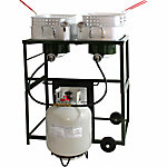 Sportsman Double Basket Outdoor Cooker & Fryer with Double Burner, 35 in. x 29 in. x 23 in.
