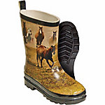 Itasca Kid's Misty Pony Rain Boot, Horses Brown