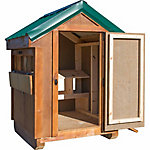 Trio Amish-Made Solid Wood Chicken Coop for Up to 6 Chickens