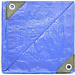Weathermaster 1,000 Denier Polyethylene Tarp, 10 ft. x 20 ft., Blue