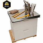 Harvest Lane Honey Beekeeping Beehive Starter Kit, 2 Box with Accessories