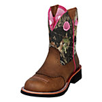 Ariat® Ladies' Fatbaby Cowgirl Boots, Distressed Brown