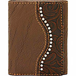 Bandana by American West Men's Tri-Fold Wallet with 7 Card Slots and 2 Hidden Pockets