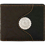 Bandana by American West Men's Bi-Fold Wallet with Removable Bi-Fold ID Holder and 2 Hidden Pockets, Brown/Black