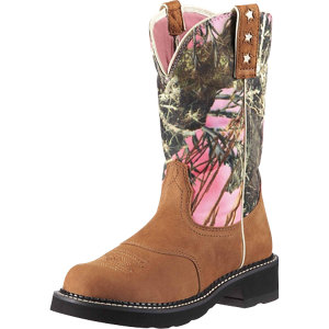 Ariat Ladies' Probaby Western Boot, Tan/True Timber Camo - For ...