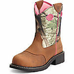 Ariat Ladies' Fatbaby Steel Toe Work Boot, Toasted Brown/Camo