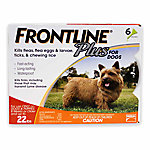 Frontline Plus Flea & Tick for Dogs, Up to 22 lb., 6 Month