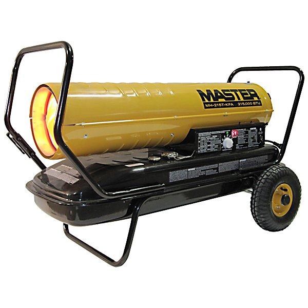 Master Kerosene Diesel Forced Air Heater 215 000 Btu