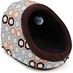 Brinkmann 14 in. Hooded Cat Bed with Play Toy, Blue