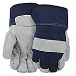West Chester® Men's Lined and Insulated Split Cowhide Leather Palm Canvas Gloves