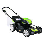 Green Works 80V 21 in. Cordless Lawn Mower includes (2) 2.0AH Batteries and a Charger, CARB Compliant