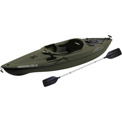 sun dolphin excursion 10 ft ss fishing kayak olive at
