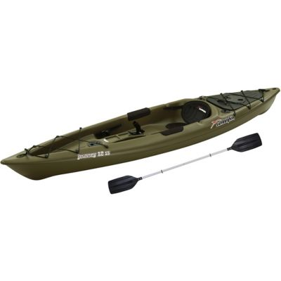 sun dolphin journey 12 ft ss fishing kayak with paddle