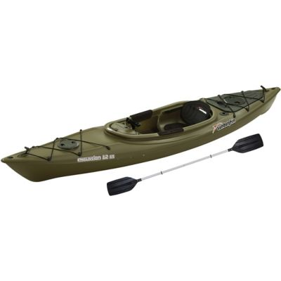 sun dolphin excursion 12 ft ss fishing kayak with paddle