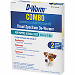 D-Worm™ Combo (Pyrantel Pamoate/Praziquantel) Broad Spectrum De-Wormer for Puppies & Small Dogs 6-25 lb., Pack of 2
