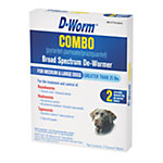 D-Worm™ Combo  (Pyrantel Pamoate/Praziquantel) Broad Spectrum De-Wormer for Large Dogs over 25 lb., Pack of 2