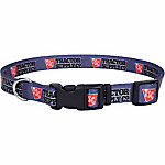 Retriever 1 in. x 12 in. to 18 in. Adjustable Fashion Print Dog Collar, Gray
